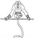 disegno della Scimmia da kung fu panda. stampala e colora