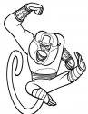 Scimmia kung fu panda disegno
