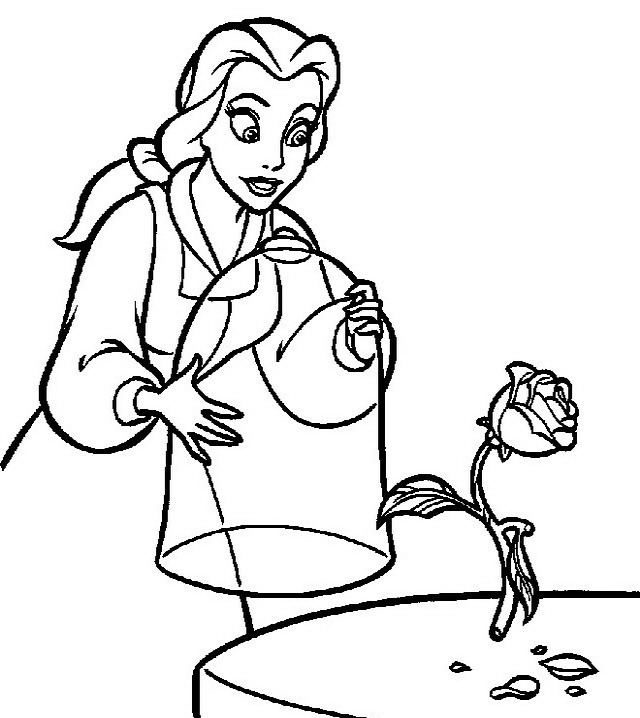 La bella e la bestia da colorare disegni gratis for La bella e la bestia disegni
