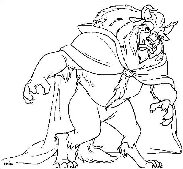 La bella e la bestia da colorare disegni gratis for Immagini della pimpa da colorare