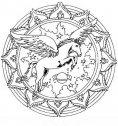immagine mandala con cavallo alato