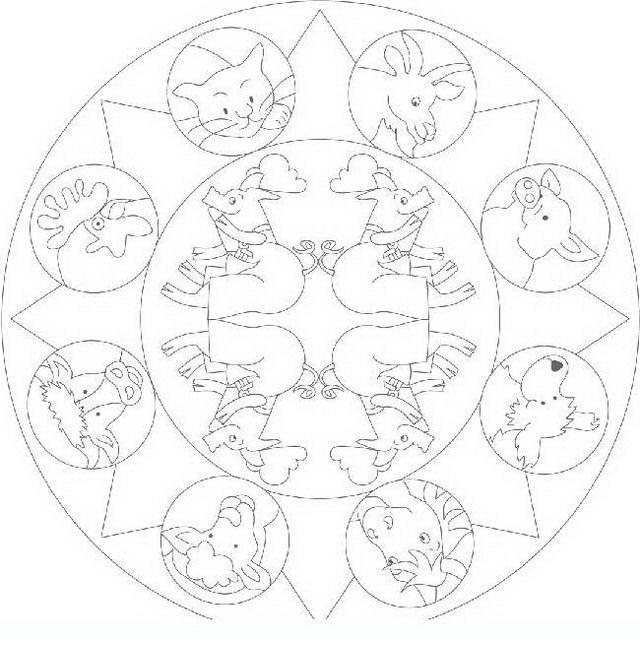Mandala da colorare disegni gratis for Mandala da colorare con animali