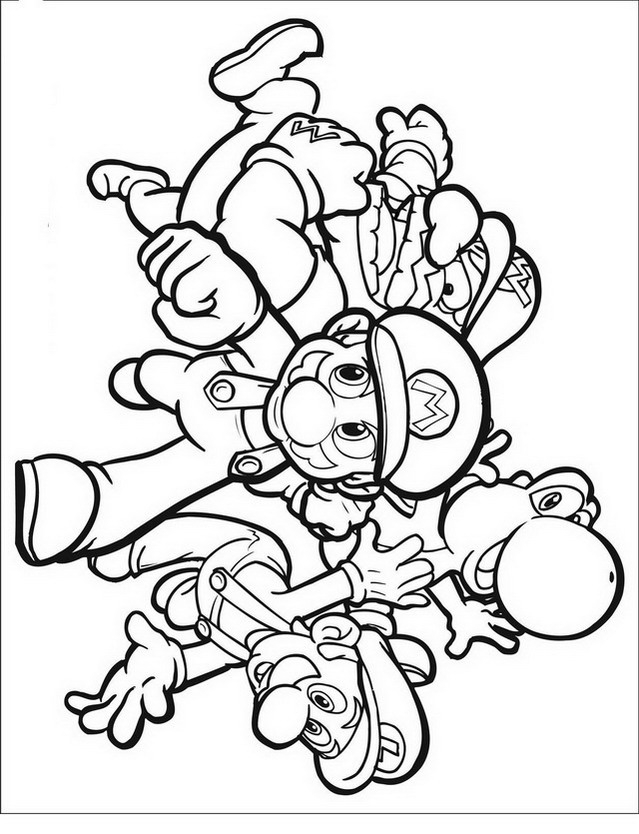 Mario bros da colorare disegni gratis for Disegni da colorare super mario bros