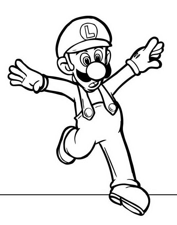 Mario bros da colorare disegni gratis for Disegni da colorare super mario bros