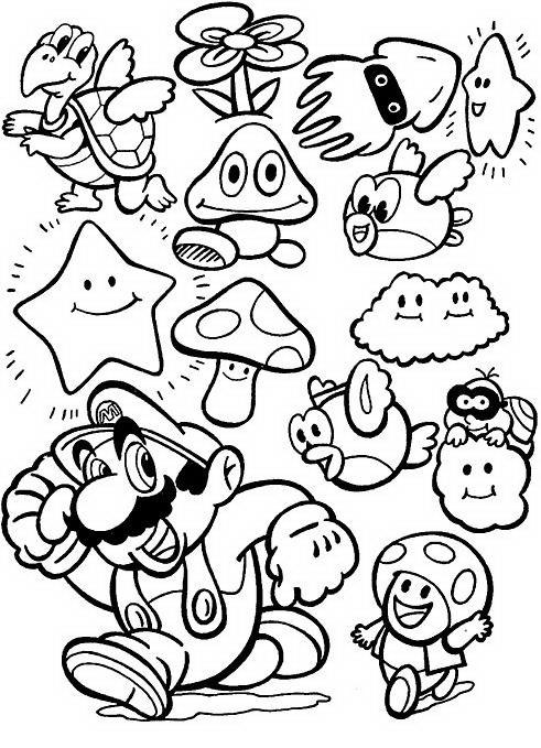 Mario bros da colorare disegni gratis for Disegni mario bros da colorare