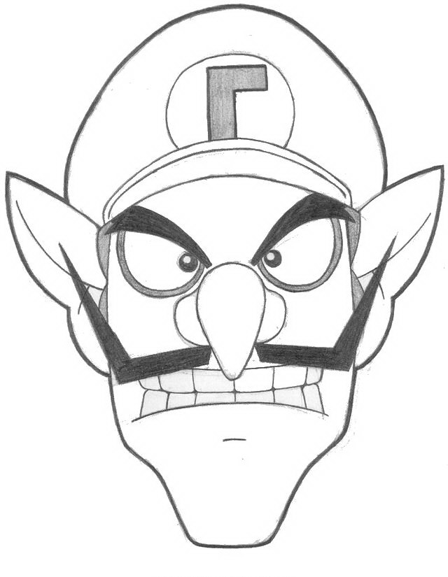 blue toad mario coloring pages