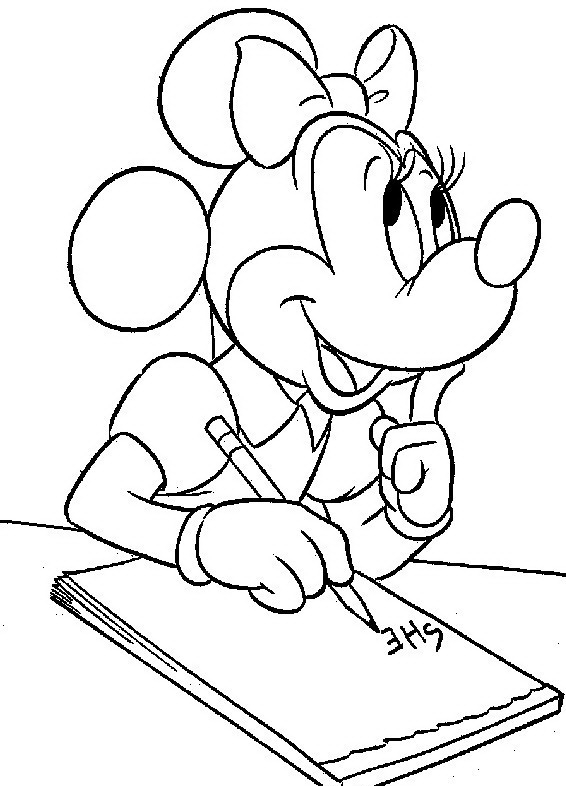 Minnie da colorare disegni gratis