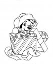 Natale per il cucciolo dalmata.