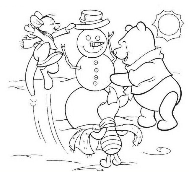 Disegni Di Natale Winnie Pooh.Natale Personaggi Da Colorare Disegni Gratis