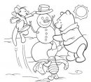 Winnie the Pooh ed il pupazzo di neve.