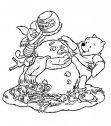 immagine di Winnie the Pooh  che fa un pupazzo di neve.