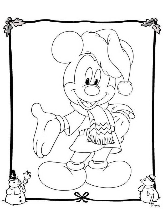 Kleurplaat Minnie Mouse Kerst Natale Personaggi Da Colorare Disegni Gratis