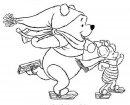Winnie the Pooh pattina, colora.