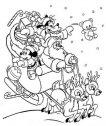 Pippo e topolino sulla slitta di Babbo Natale.