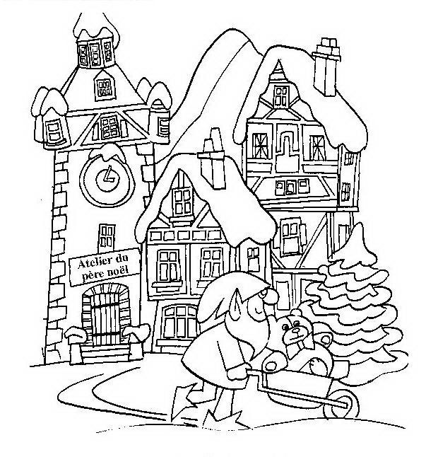 Paesaggi di natale da colorare disegni gratis for Disegni da colorare di case