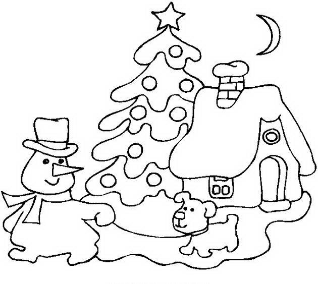 Disegni Paesaggi Di Natale.Paesaggi Di Natale Da Colorare Disegni Gratis