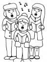 Coro di Natale da colorare.