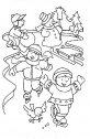 Bambini sulla neve, colora.