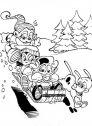 Colora la slitta di Babbo Natale.