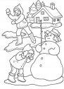 Immagine di bambini con pupazzo di neve.