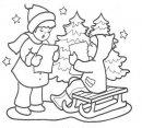 Colora i bambini con la letterina di Natale.