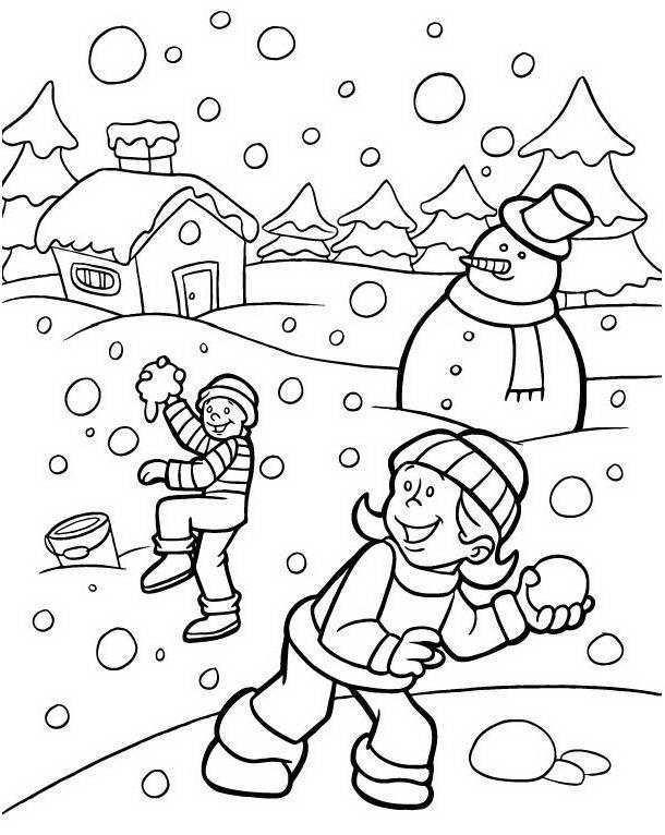 Paesaggi Di Natale Da Colorare Disegni Gratis