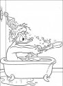 immagine di paperino che fa bagno