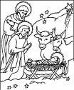 La Sacra famiglia col bue e l'asinello.