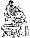 Maria, Giuseppe ed il Bambino, stampa e colora.
