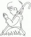 Immagine di pastorello che prega.