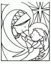 Madonna con bambino in bianco e nero.