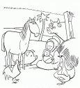 Maria e il Bambino tra gli animali.
