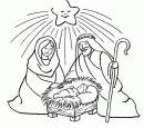 La stella illumina la Sacra Famiglia.