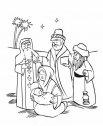 La Sacra famiglia ed i Magi, colora.