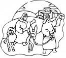 Maria e Giuseppe cercano un riparo per la notte.