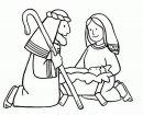 Colora Maria, Giuseppe e la mangiatoia.