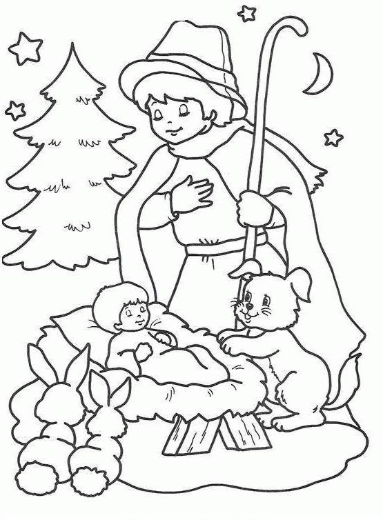Personaggi presepe da colorare disegni gratis for Disegni di natale facili per bambini