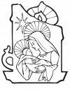 Colora la Madonna col bambino.