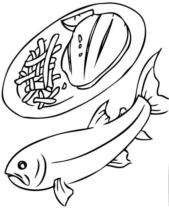 Pesci da colorare disegni gratis for Disegni da colorare pesciolini