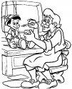 immagine di pinocchio col padre geppetto