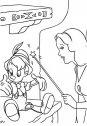 colora pinocchio e la fata turchina