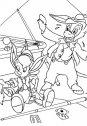 disegno di pinocchio e lucignolo con le orecchie di asino