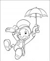 immagine del grillo parlante con l'ombrello