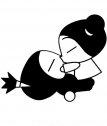 Disegno di Pucca che bacia Garu.