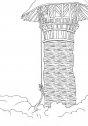 Colora la torre di Rapunzel.