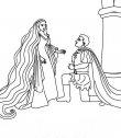 Rapunzel e il suo innamorato Flynn.
