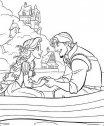 Rapunzel in barca con Flynn.
