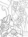 Il re e la regina con Rapunzel appena nata.