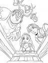 Rapunzel col giovane Flyn, stampa e colora.