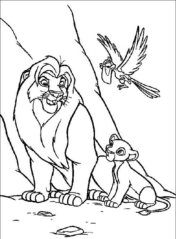 re leone da colorare disegni gratis
